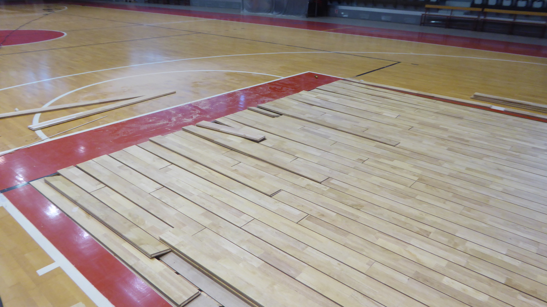 The flooring of the three second areas has been restored