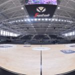 Here is the new removable sports parquet in the Virtus Segafredo Bologna Arena