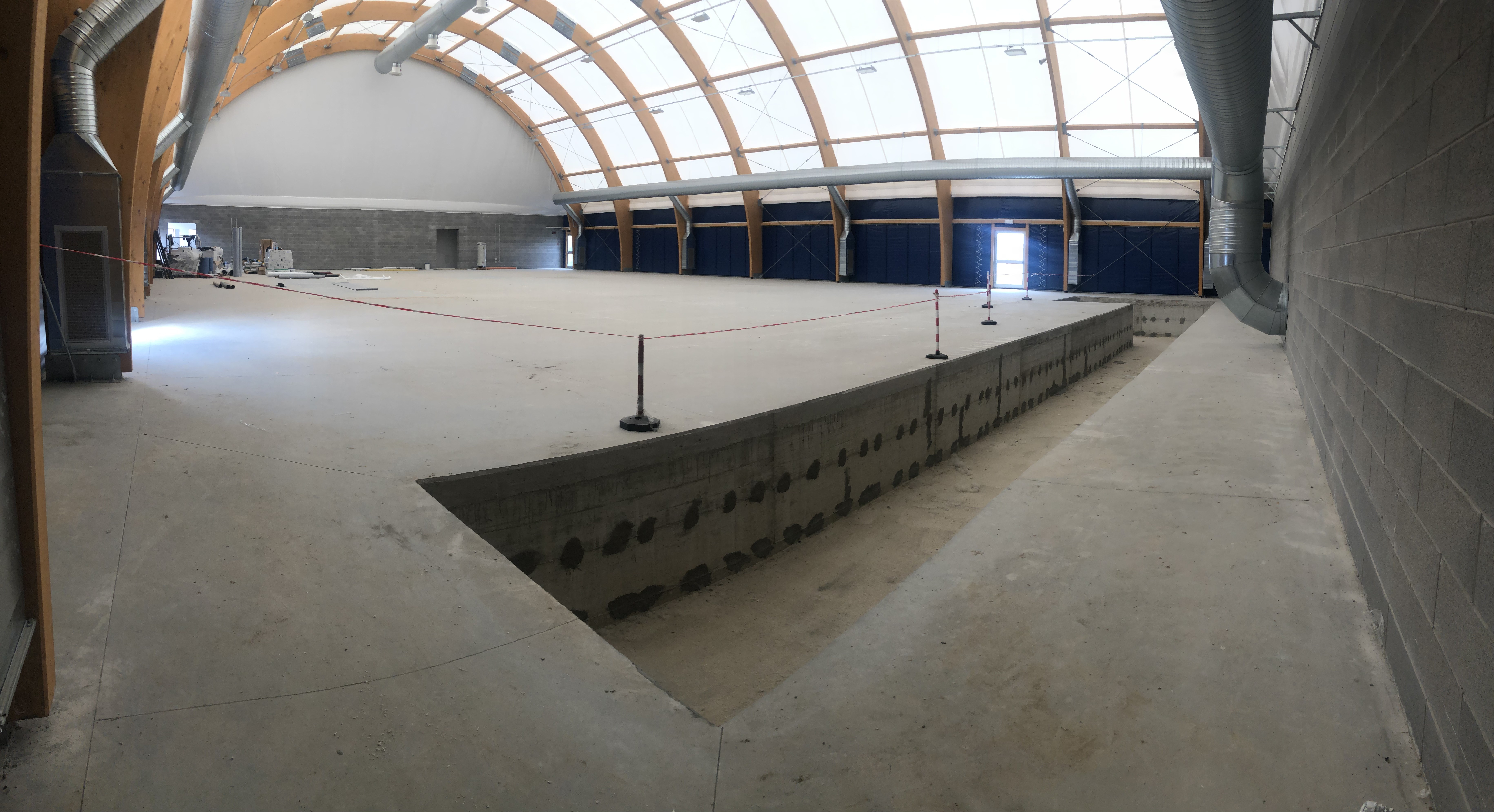 What the sports facility looked like before the intervention of Dalla Riva