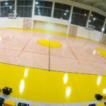 high-quality sports parquet by Dalla Riva Sportfloors together with Bona paint.