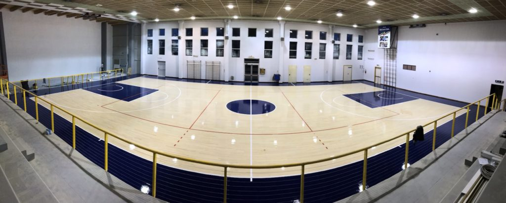 Refurbished the sports parquet of the sports hall of Cavallino Treporti