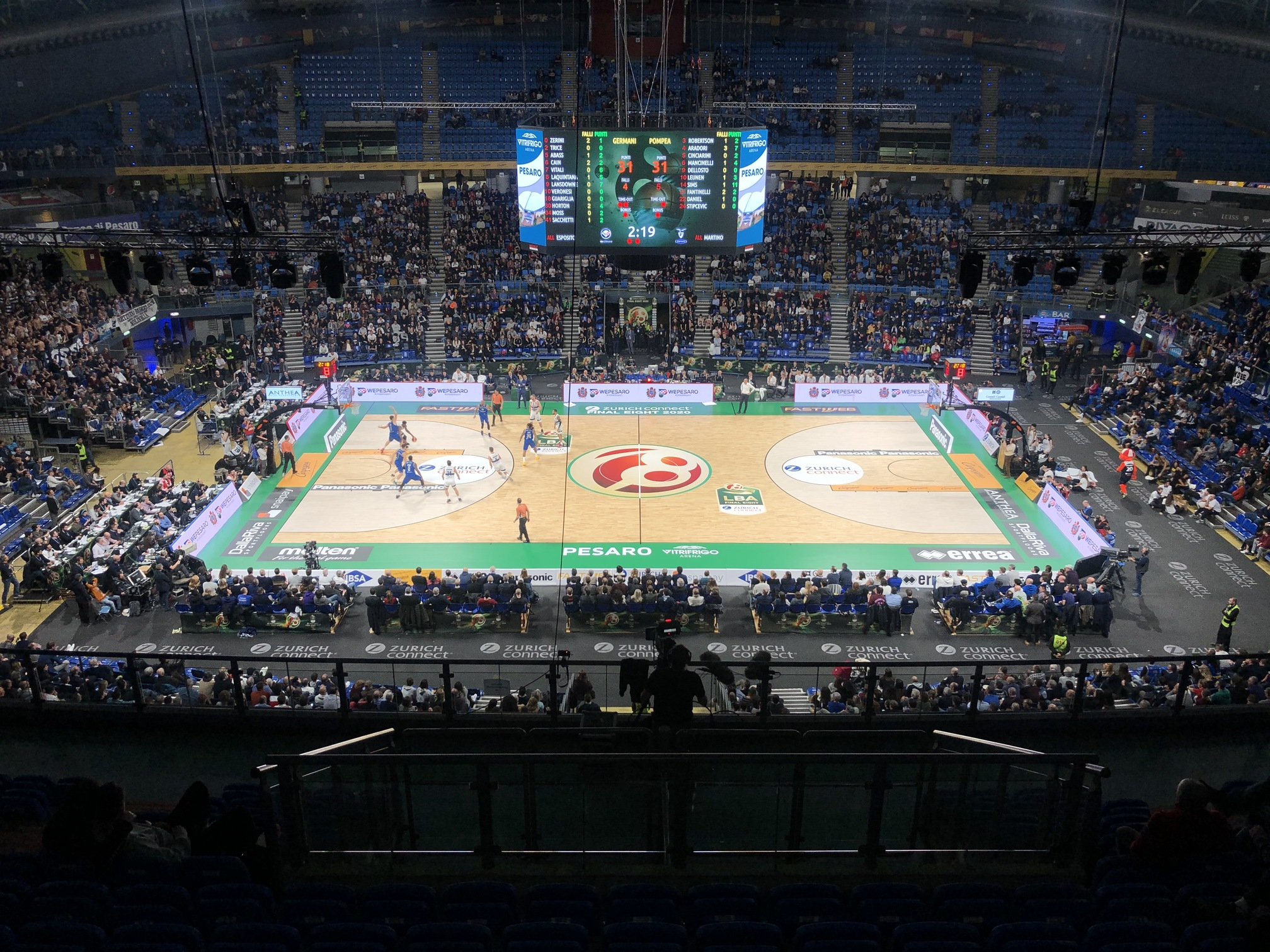 Quarterfinals between Brescia and Fortitudo Bologna