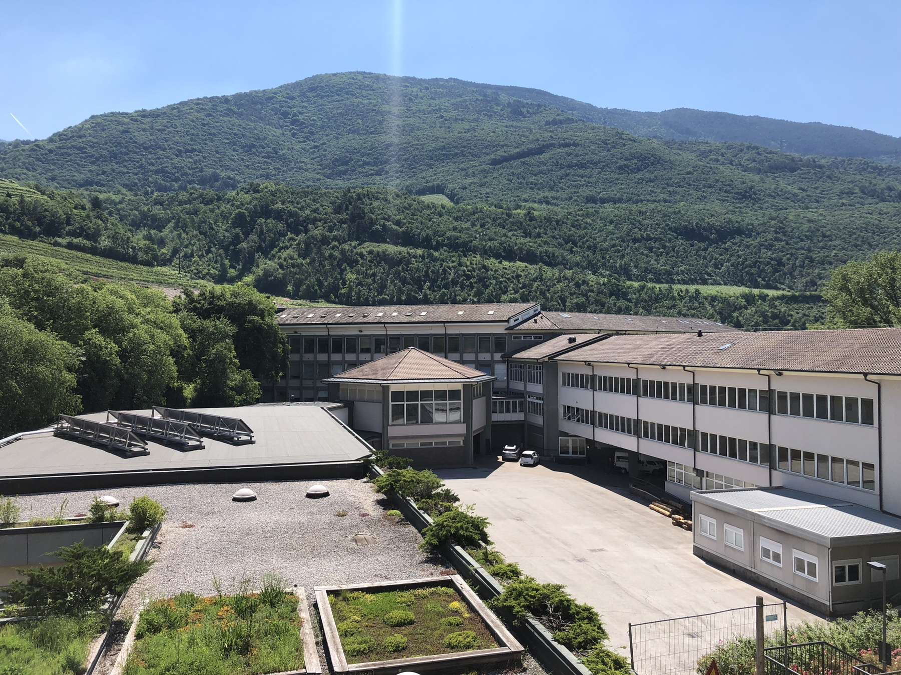 The Institute seen from above
