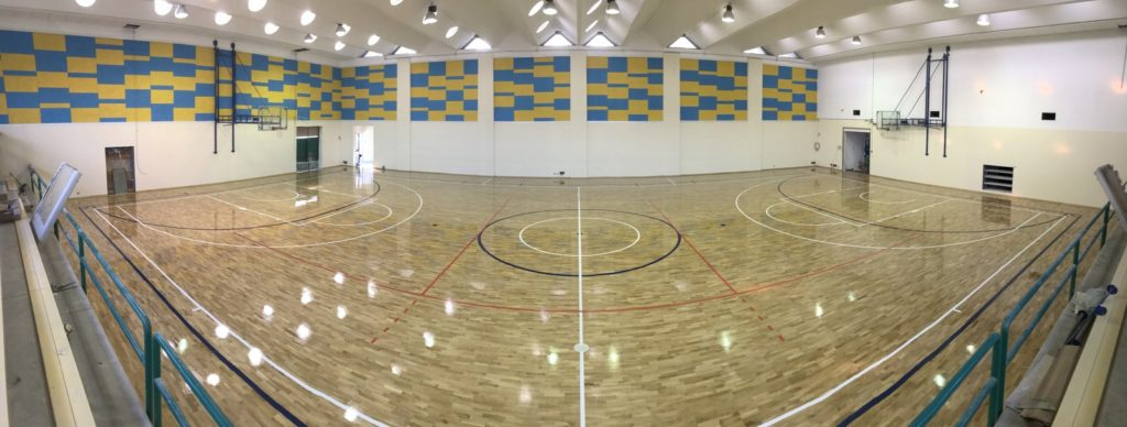 A new sports parquet near our office