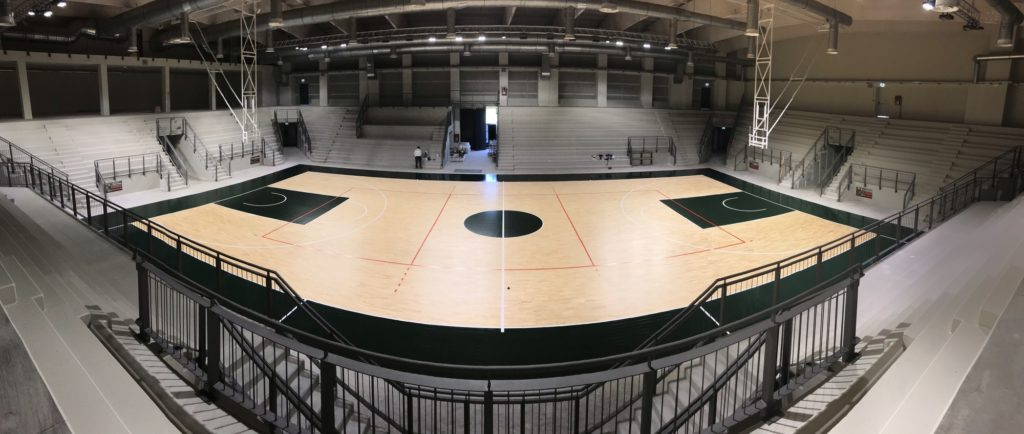 The new Palasport of Gravellona Toce in the sign of Dalla Riva Sporfloors