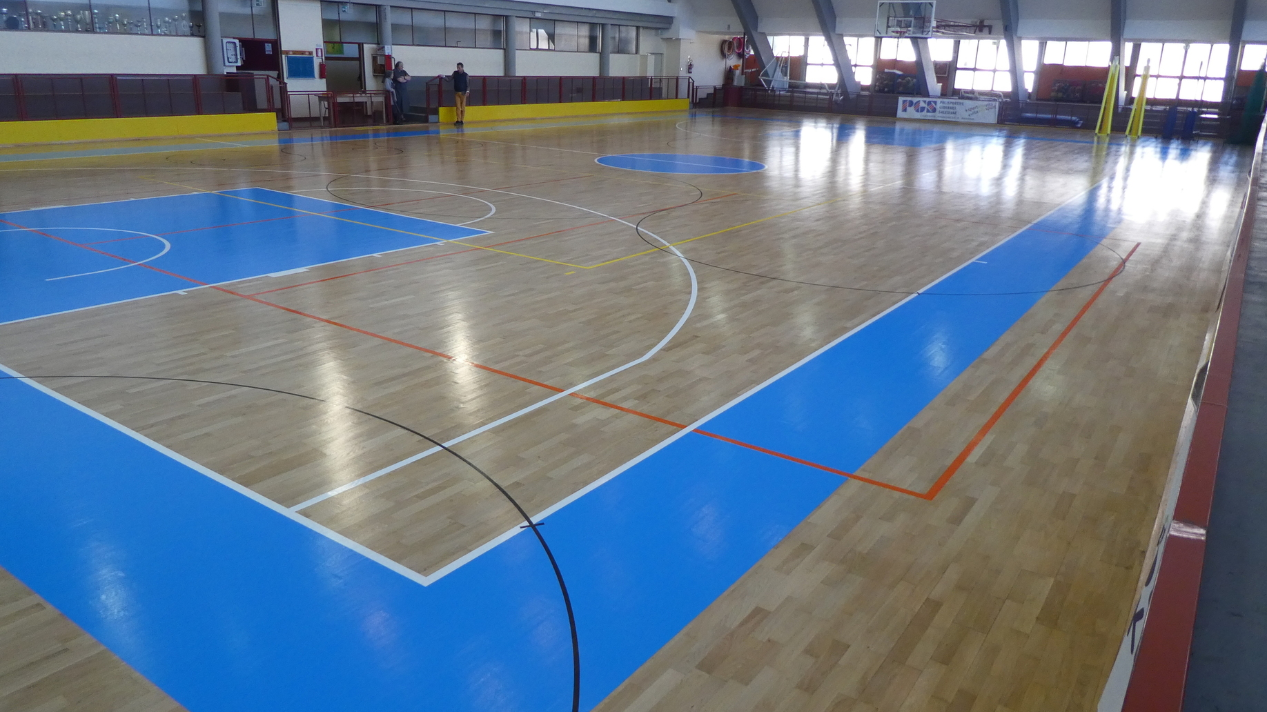 The flooring is ready to host the various sports disciplines