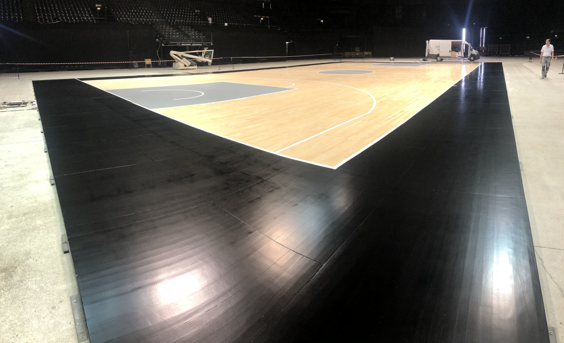 The new colors of sports parquet