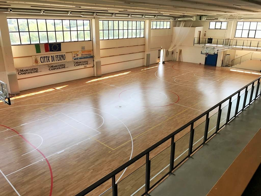 The new FIBA certified sports parquet