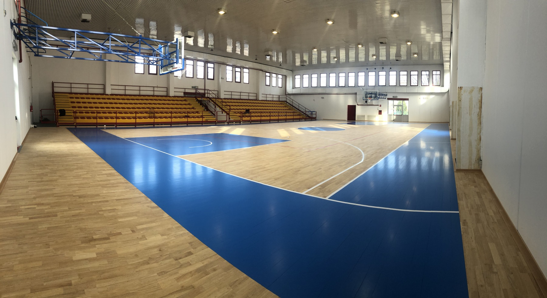 The color blue fiba protagonist on the playing field