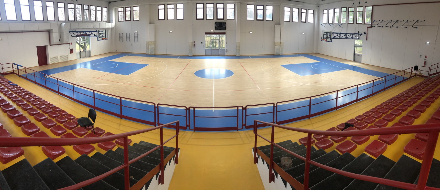 From a school gym to a real sports hall