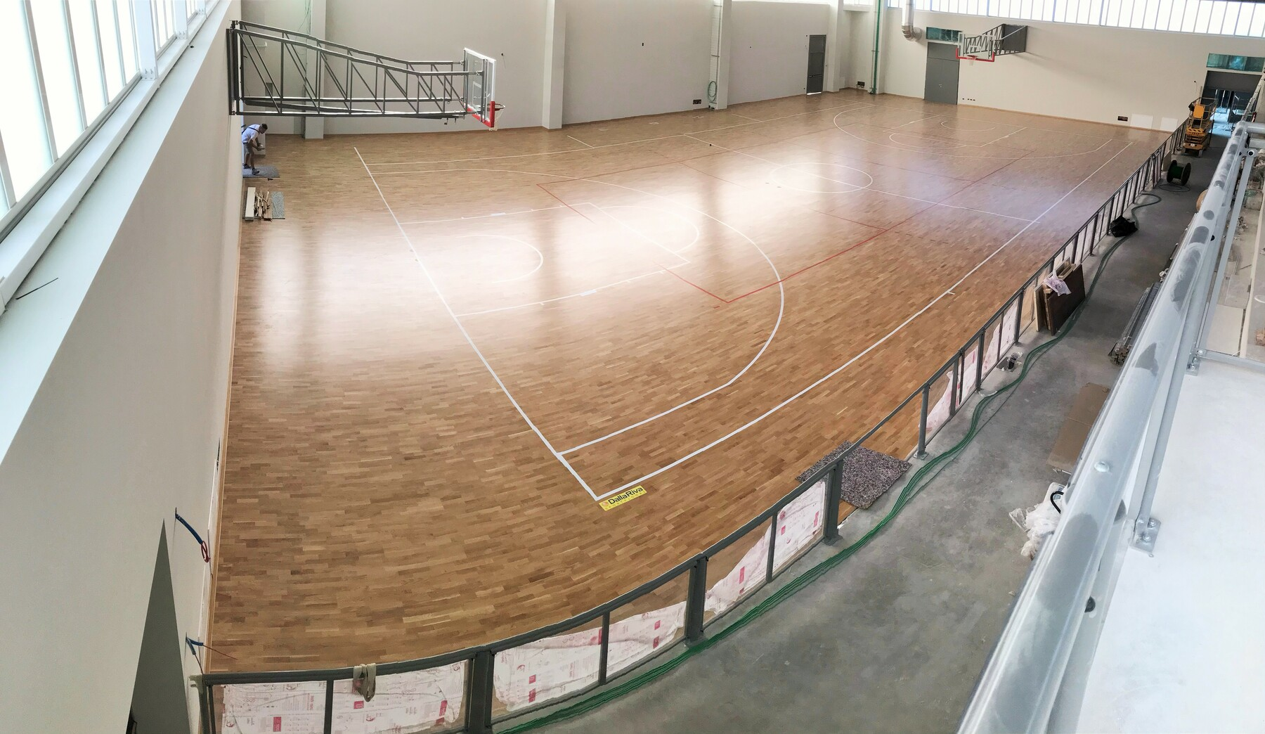 The new FIBA approved parquet