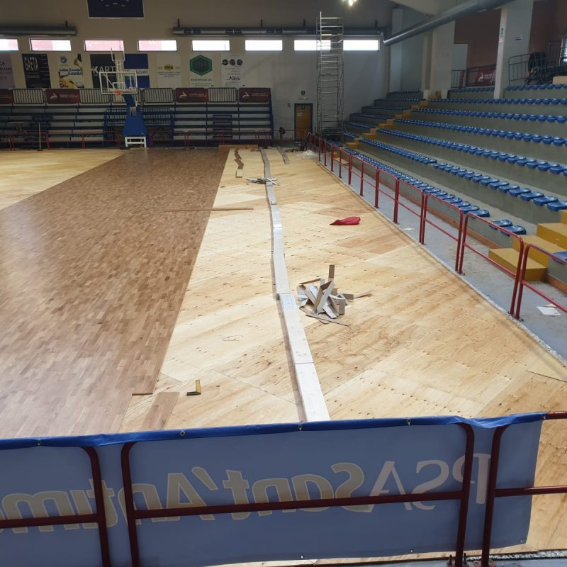 Palasport begins to change its face