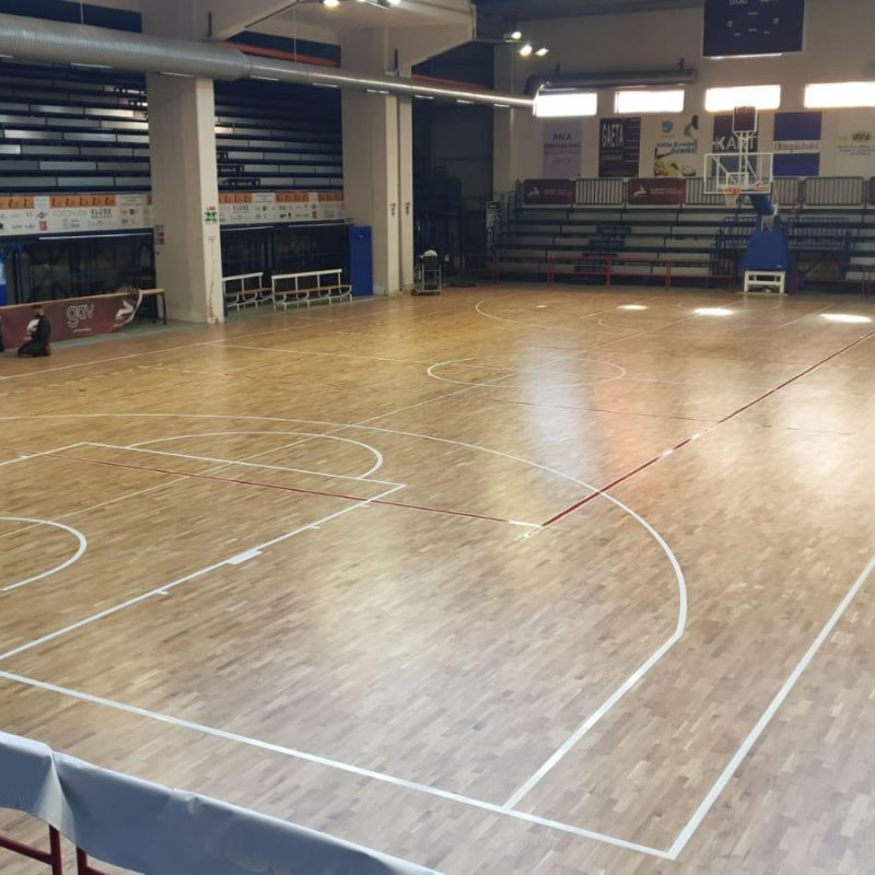 Basketball and volleyball in the Campania facility
