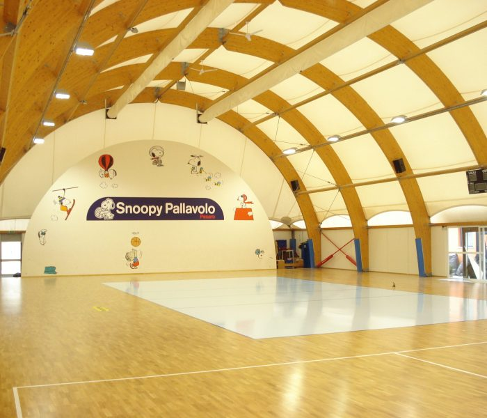 AGIL VOLLEY TRECATE professional volleyball parquet sport floor dalla riva