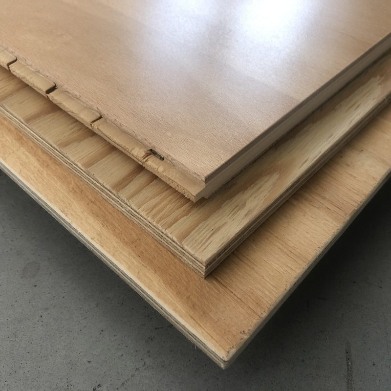 The various layers that make up our sports flooring package