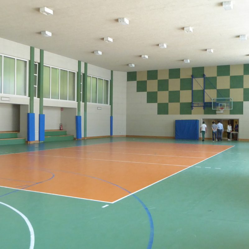 What the sports facility looked like before our work