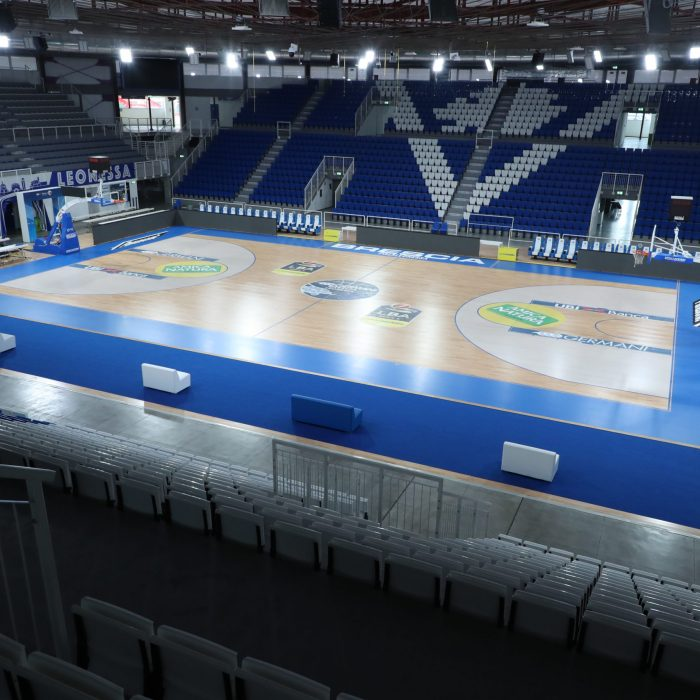 Brescia wooden sports flooring for basketball
