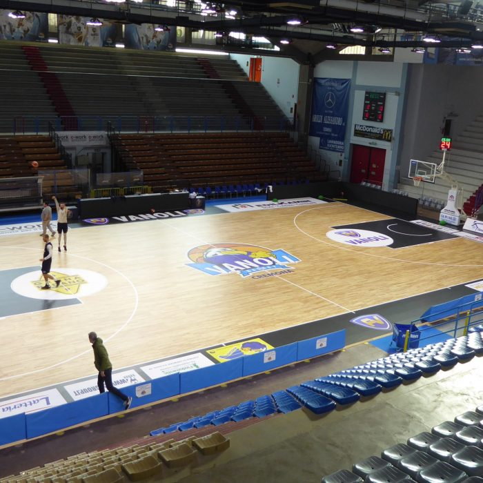 Cremona wooden sports flooring for basketball