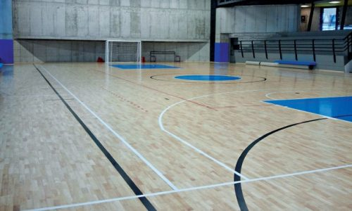 Solid Jump System parquet in the Morbegno gym