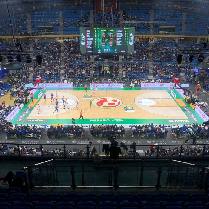 Pesaro wooden sports flooring for basketball