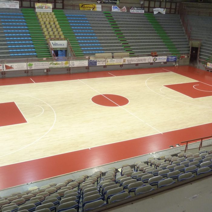 Pistoia wooden sports flooring for basketball
