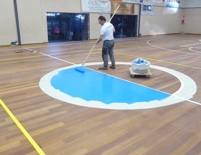Sports floors maintenance fireproof parquet