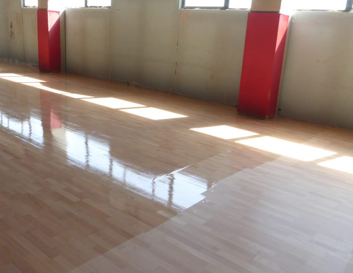 Sports floors maintenance parquet