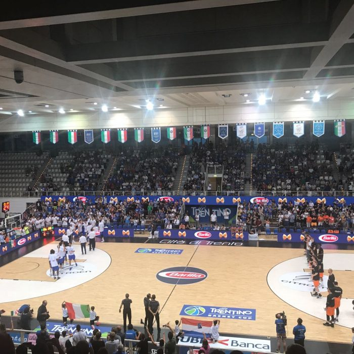 Trento wooden sports flooring for basketball