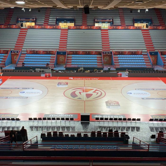 Wooden sports flooring for basketball